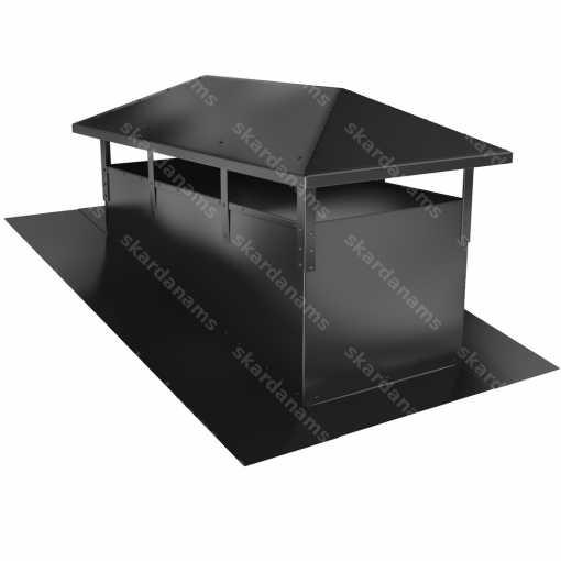 Дымоходная шапка тип 1. Жестяное изделие для крыши.